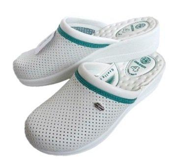 Ортопедични бели дамски чехли GEZER
